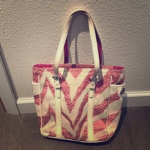 Coach Bags - Pink and white Coach Purse
